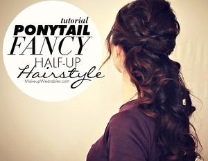 See how to do this on your own hair here -   http://www.makeupwearables.com/2013/12/curly-half-up-hairstyle-tutorial-video.html