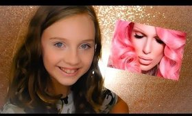 My Daughter does a Jeffree Star Makeup Video