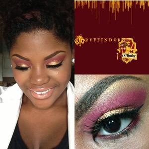 Gryffindor inspired makeup!