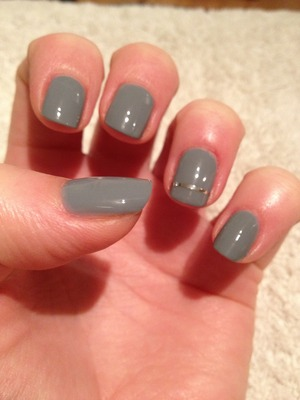 Rimmel 60 seconds polish in 805 - Grey Matter Silver striping tape