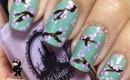 Cherry Blossom Flower Nails by The Crafty Ninja