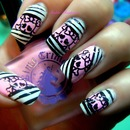 Skull Design With Lime Crime/ Venique /Konad /Stamp Nail Art