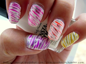 some kind of neon ombre zebra thing