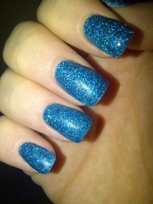 Stunning blue acrylic glitter! Love it!!!! Xx