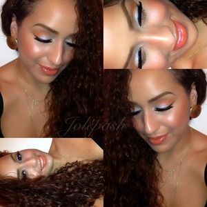 Used the Coastal Scents Creative Me #1 palette.   Follow my IG for daily makeup posts: @Joleposh