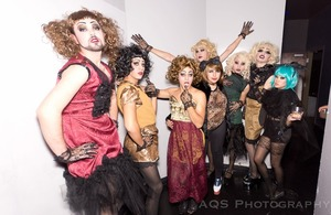 I did all the makeup on these wonderful boys (and girls) for a drag themed fashion show. 6 full drag faces in 3 hours-- pretty awesome. Drag is some of my favourite makeup to do!