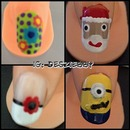 Flowers, Santa, French Mani With Flower, & Minion