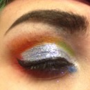 Rainbow cut crease