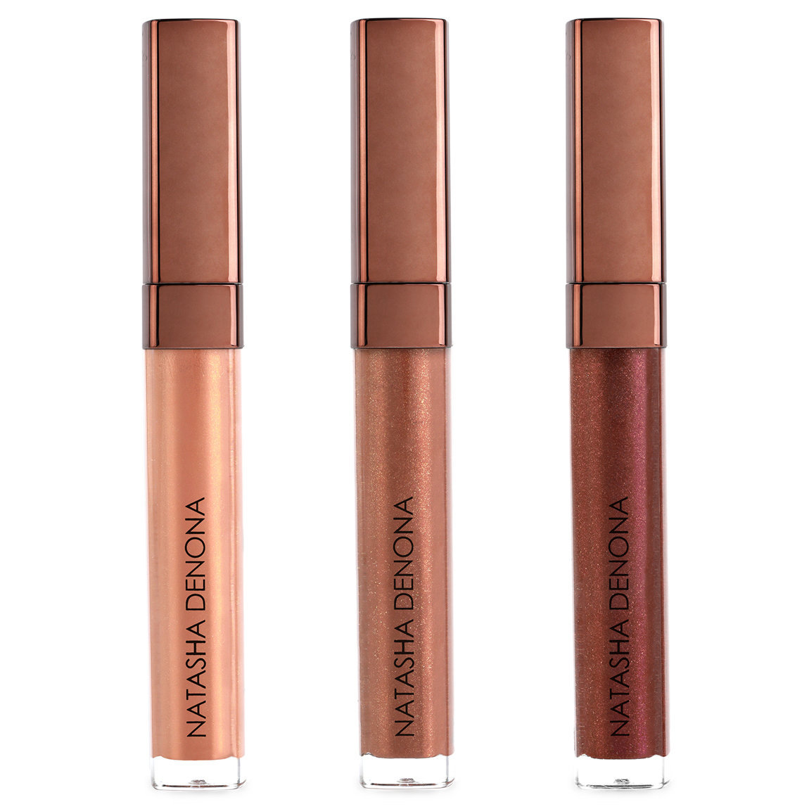 Natasha Denona The Bronze Collection Lip Oh-Phoria Gloss & Balm Bundle alternative view 1 - product swatch.