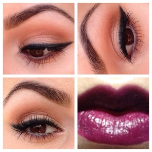 Shares this on my Instagram (makeupbykristyg) so thought I would share it here too. A very soft eye with a bold lip. My go to fall look! On my Lips I have Wet N Wild Fergie collection Ferguson Crest Cabernet.