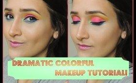 Nyx Face Awards 2014 || Dramatic Colorful Summer Makeup!