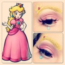 Peach super Mario makeup look