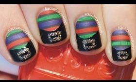 Witch Stockings and Shoes Halloween Nail Art Tutorial
