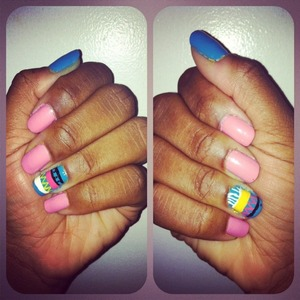 my nails...they kinda remind me of Easter eggs :)