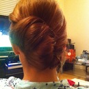 Modern updo retro twist