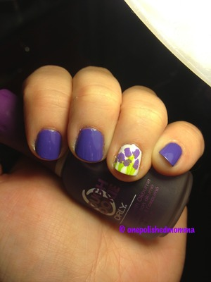My first attempt at lilac nails