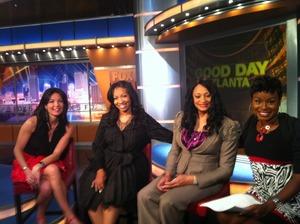 At Fox 5 studios discussing Oscar fashions!