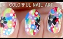 Pop Colorful Nail Art (Matte vs Glossy)