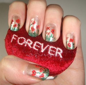 Poppy Nails for Remembrance/Veterans' Day