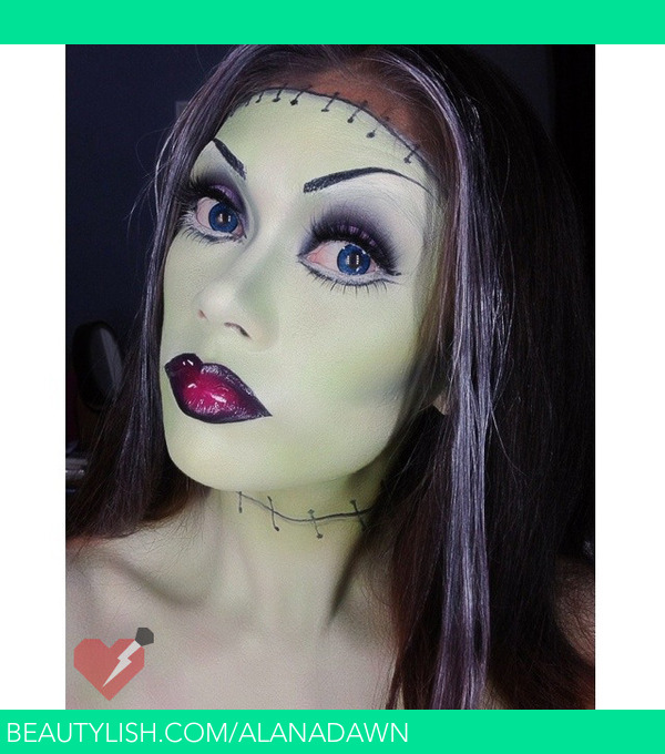 frankenstein halloween makeup done by alana dawn get the details and products i used on our blog httpwwwladyartlookscom