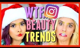 TRYING INSTAGRAM BEAUTY TRENDS with Rebecca Zamolo! Christmas Edition