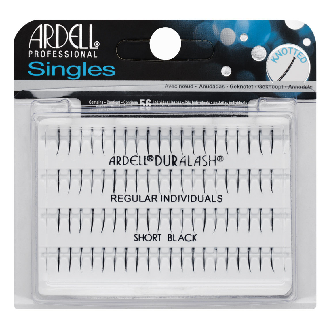 Ardell Individuals Single Knotted  Regular Short Black