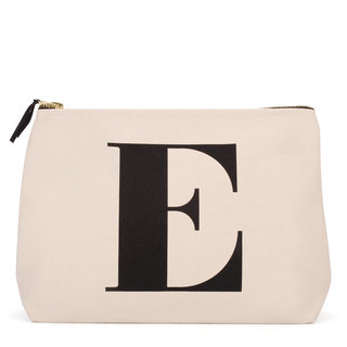 Natural Wash Bag Letter E