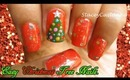 Easy Christmas tree nails tutorial