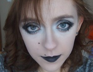 I created this look today! It wasn't meant to be a perfect grey scale, but just enough to look like a ghost.