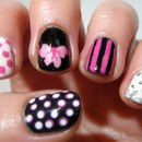 Black, White & Pink Skittles