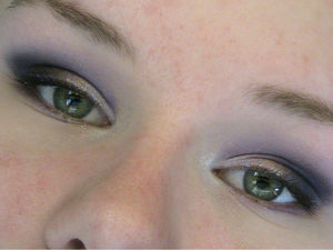 I tried to go a little more full-out with my purple smokey eye :D