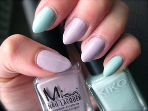I did this color combo before, but with brighter polishes: http://www.beautylish.com/f/iivcaw?ref=modal ; these are more grey toned.
