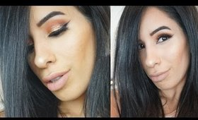 Orange copper glitter eyes | Makeup tutorial | Full face