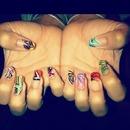 multi-design natural nails