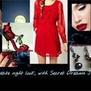 A lady in red, date night collage!