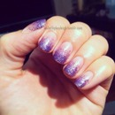 Light Purple Glitter Gradient
