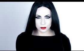Morticia Addams Makeup Transformation (Halloween Series)