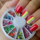 pink crazy nails