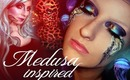 Medusa make-up Water element Inspired Collab with HayzStrawberry & Pinkstylist Jellyfish look
