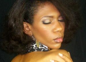 Seductive Eye Makeup Close Up