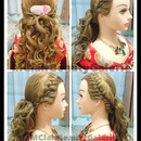Sweet Curly Braid Bridal Hairdo