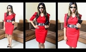 Red Dress - Make up, Shoes - How to wear accessories casually, wedding, formal ideas Prachi Agarwal