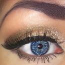 smokey, glitter eye makeup