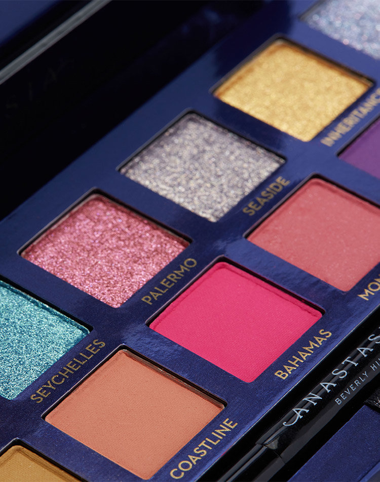 Alternate product image for Riviera Eyeshadow Palette shown with the description.