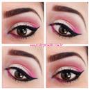 Makeup gradient pink
