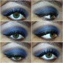 Galaxy blue smoky eye