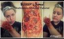 Bloody & Burned Halloween Makeup Tutuorial