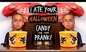 I Ate Your Halloween Candy - Jimmy Kimmel Prank!  | Kym Yvonne