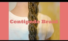 Centipede Braid Hairstyle, 4 Strand Fishtail Braid