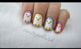 Nail Art: Pastel Penguins!